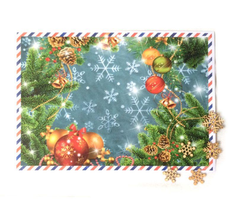 Новорічний конверт для листа від Діда Мороза