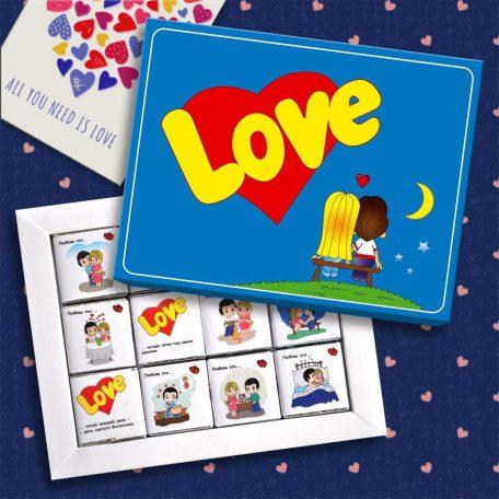 "Шоколадний набір Love is...(60г.) (Киев. Украина) <a href=""http://prostotak.com.ua/ru/shop/present/kreativnye-sladosti/kreativnyj-shokolad/shokoladnyj-nabor-love-is-100g/"" rel=""noopener"" target=""_blank"">Замовити.</a>"