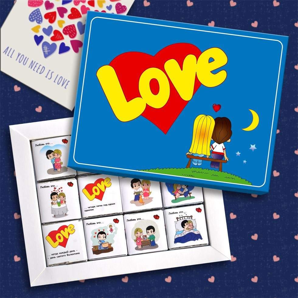 Подарок недорогой на День влюбленных 14 февраля Love is... (Киев. Украина)