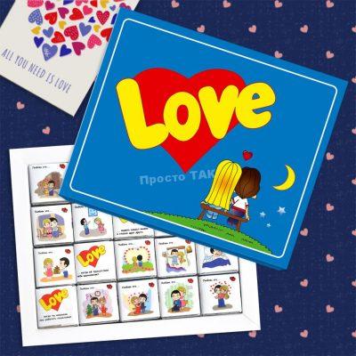 """Купить шоколадный набор """"Love is"""""""