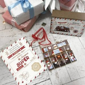 Шоколадное письмо от Деда Мороза
