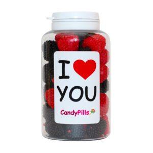 I love you. I love. Баночка конфет. Подарок на день влюбленных