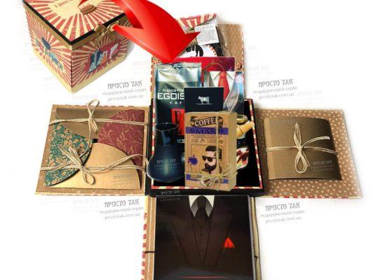 Подарок для мужчины с кофе и шоколадом