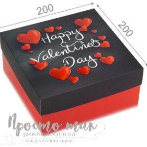 Коробка подарочная 20Х20Х10см на 14 февраля