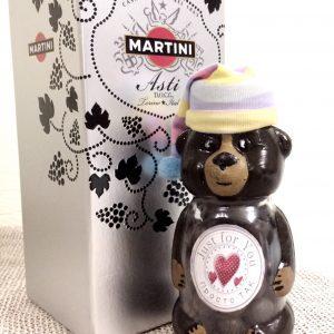 Замовити подарунковий набір із Мартіні та солодким ведмедиком, наповненим цукерками.