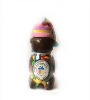 """Баночка """"Ведмедик"""" із цукерками М&Мs. Баночка """"Ведмедик"""" наповнена цукерками. Прекрасний подарунок для дитини чи дорослого із індивідуальною етикеткою."""