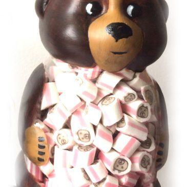 Натуральна карамель в баночці ведмедик Барні