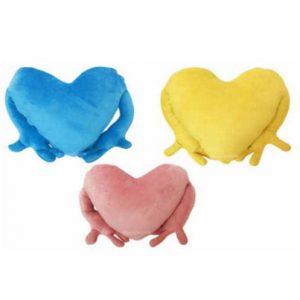 Подушка Красная, желтая, розовая, синяя в подарок. Печать на подушках. Подушки обнимашки. Подушки с ручками. Подушка в виде сердца.