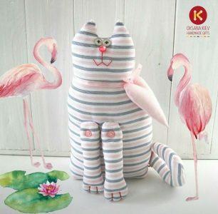 Котик ручної роботи, подарунок хенд мей, унікальний подарунок, подарунок своїми руками, котик, котики, подарункові іграшки, подарувати котика, купити котика,