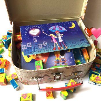 Цена Love is подарочный набор, шоколад Love is ... , жвачки Love is ... , мыло Love is ...
