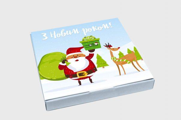 Подарочный новогодний набор шоколада с логотипом