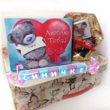 Подарок для девушки или женщины. Недорогой подарочный набор с шоколадом