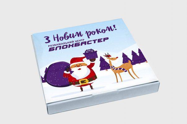 Заказать Подарочный новогодний набор шоколада с логотипом, Замовити подарунковий новорічний набір шоколаду з логотипом