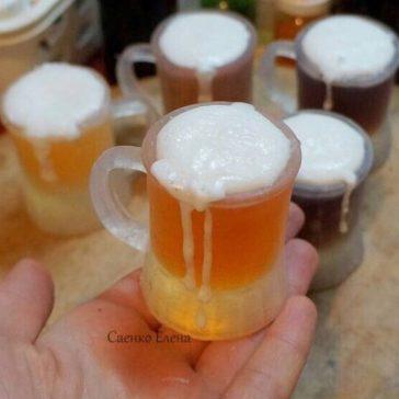 Пивний кухоль, кружка з пивом з мила. Подарунковий набір для коханого, хлопця, чоловіка, шефа.