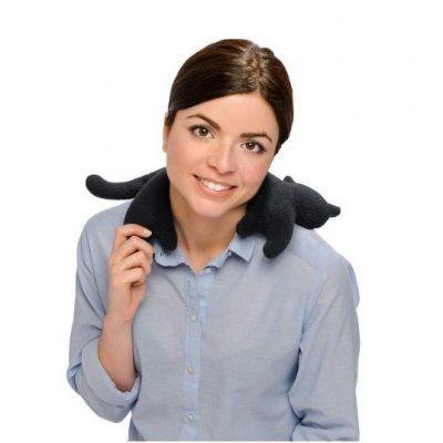 Чорна кішка грілка з ЕКО наповнювачем