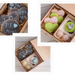 Печенье праздничное на День святого Валентина для любимого или любимой.