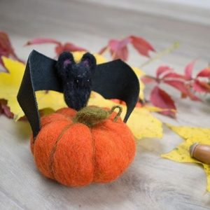 Декор тыква методом валяния Halloween