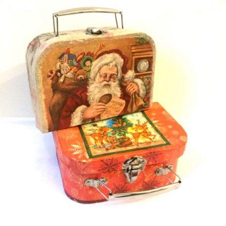 Заказать подарок на новый год для ребенка. Коробка для подарка на новый год. Новогодний чемодан 1шт.