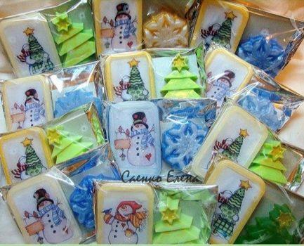 Новорічний декор для подарункових наборів, декор для подарункового набору на замовлення.