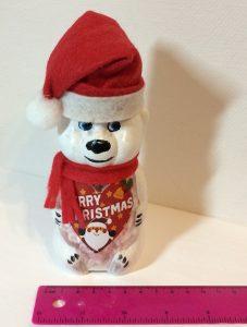 Подарунки діткам на Новий рік. Ведмедик Санта із цукерками.