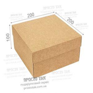 Коробка крафт 20X20X10cm