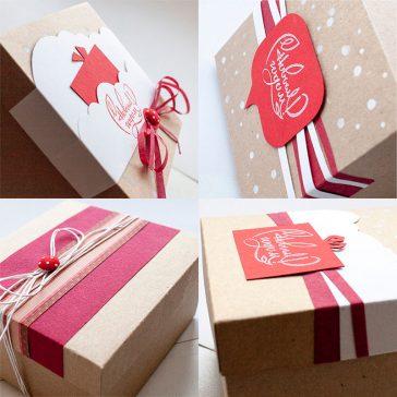 Коробка крафт упаковка для корпоративных подарков, Коробка крафт із листівкою