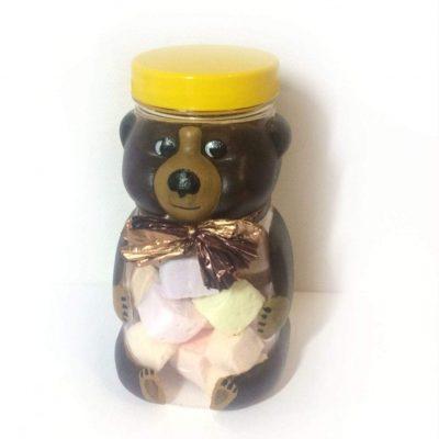Цукерки маршмеллоу в баночці ведмедик. Подарункові набори.