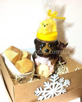 Подарочный набор ребенку: мишка, песик и головоломка