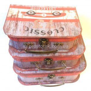 Подарочная коробка чемодан раритет авто, Подарункова коробка валіза раритет авто