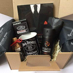"""Набір в дизайні Jack Daniels """"С Днем рождения!"""""""