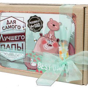 Подарок папе на День рождения. Коробка сладостей.