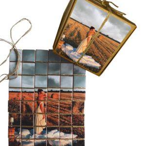 Пазл из фото и шоколада в подарок девушке