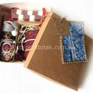 Подарунки для жіночок в коробці 20Х20Х10см крафт