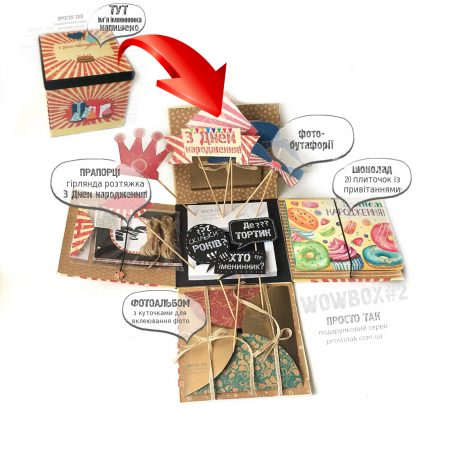 """Коробка для подарка WOWBOX2  <a href=""""http://prostotak.com.ua/ru/shop/present/podarunkovi-korobki/dlya-detej/korobka-dlya-podarka-wowbox-2/"""" rel=""""noopener"""" target=""""_blank"""">ЗАКАЗАТЬ</a>"""