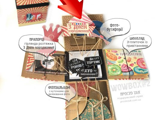Купить подарок на День рождения с доставкой по Украине