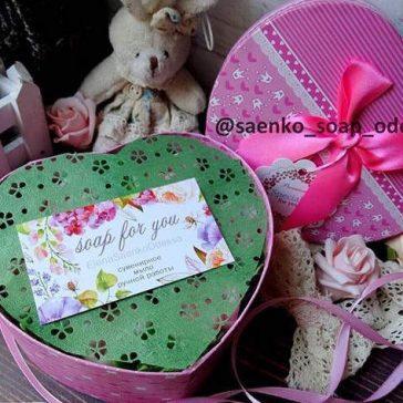 коробка серце із квітами
