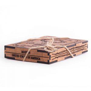 Камни для виски в деревянной коробке
