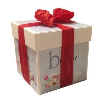 Коробка куб 20x20x20 cm із розпашними сторонами