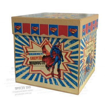 Коробка із кришкою з днем народження СУПЕРМЕН