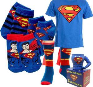 Подарочный набор SUPERMAN носки, футболка, чашка