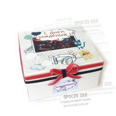 Коробка біла 20Х20х10см для подарункового набору