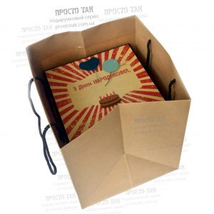 Пакет крафт для куба