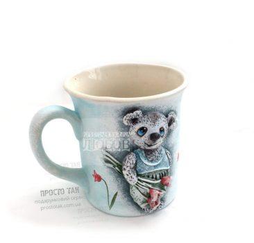 Подарочная чашка МИШКА авторская работа