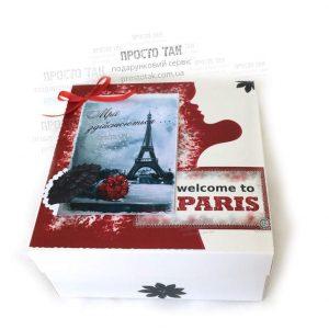 Коробка PARIS 20x20x10см для подарочного набора