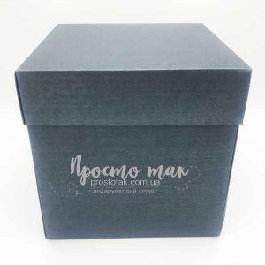 Фото коробка черный куб 19х19х19см.