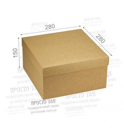 Коробка крафт 28х28х15см для подарункового набору