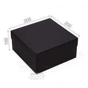 Черная коробка для подарка 20X20X10cm