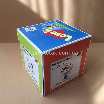 Коробка куб LOVE is... с распадающимися сторонами
