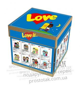 Коробка для подарочного набора love is...