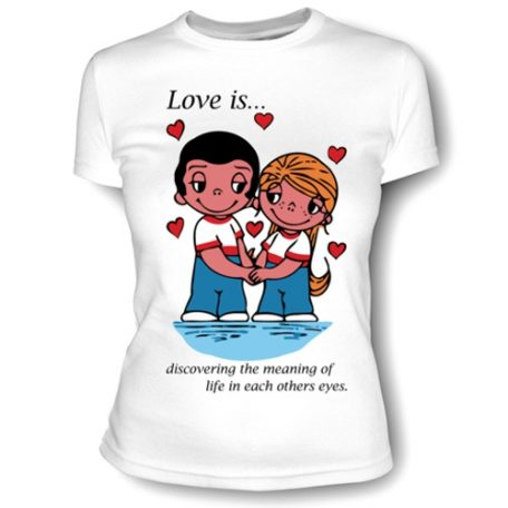 Футболка белая для подарочного набора love is...